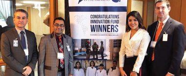 Photo of Innovation Fund winning students