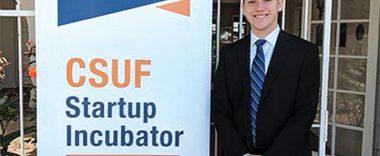 cal state fullerton student Bryan Ruef at the cal state fullerton startup incubator event