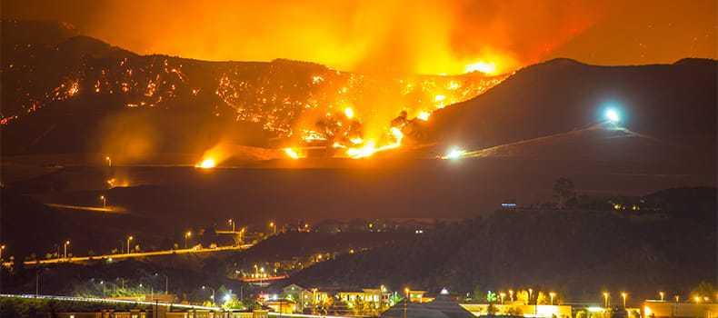 Decorative stock image of wildfires