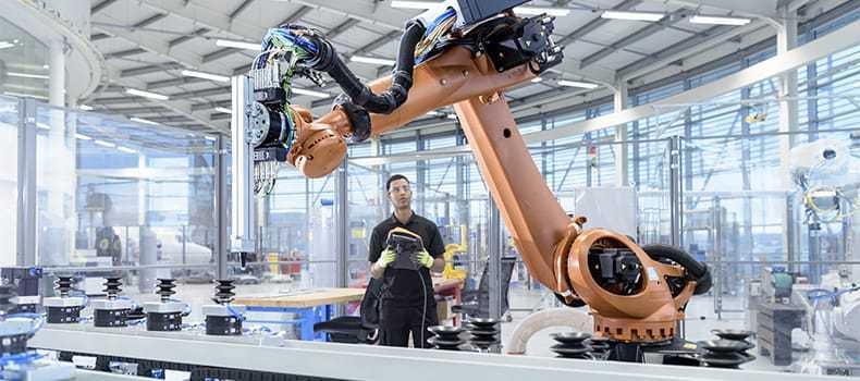 Decorative stock image individual operating robot