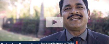 thumbnail video image of cal state fullerton faculty Sudarshan Kurwadkar