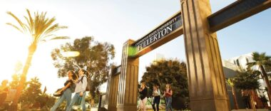 Photo of Cal State Fullerton campus